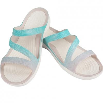 Sanda Crocs Swiftwater Seasonal W light blue white 205637 41S