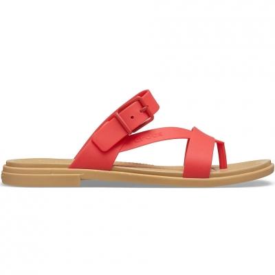 Sanda Crocs 's Tulum Toe Post red 206108 8C1 dama