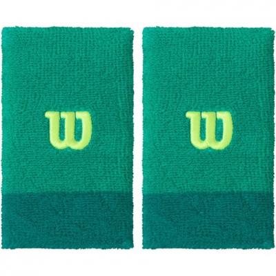 Manseta tenis Wilson Extra Wide wide 2pcs green WRA733513