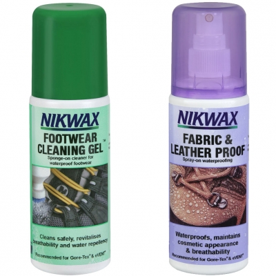 Pantof A set of impregnants Nikwax Fabric and piele and Cleaning Gel for 2x125ml