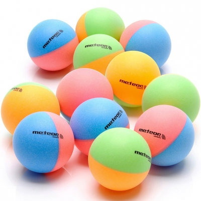 Set of 12 ping pong balls Meteor Rainbow colored 15025