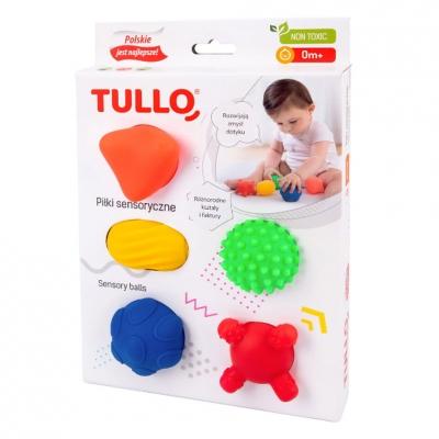 Sensory balls, shapes 5 pcs. AM Tullo colored 420
