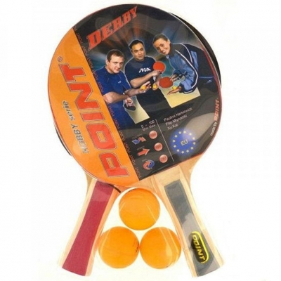 Point Team ping pong racket set with 2 rackets and 3 balls