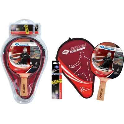 Ping Pong set Donic Persson 600 1 racket, 3 balls, cover 788487