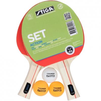Ping Pong set Stiga Action 2 rak + 3 ball 1824 01
