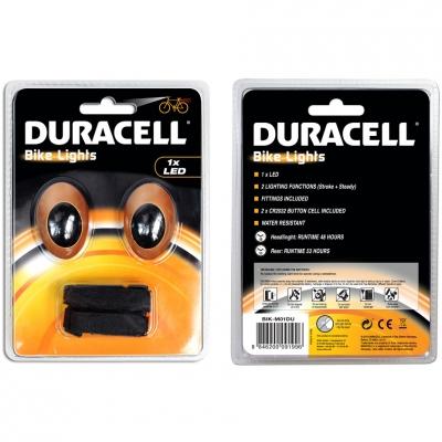 Duracell Front + Rear 1 Led Bike Light Set 00919