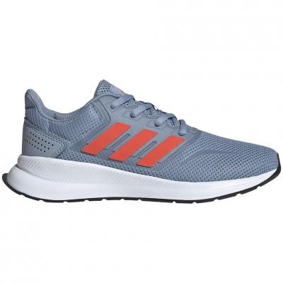 Pantof for adidas Runfalcon K gray-orange FV9440 copil