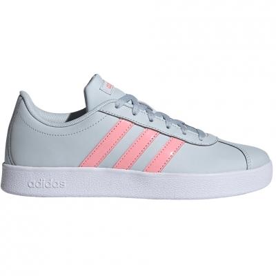 Pantof for adidas VL COURT 2.0 K blue-pink FY9151 copil