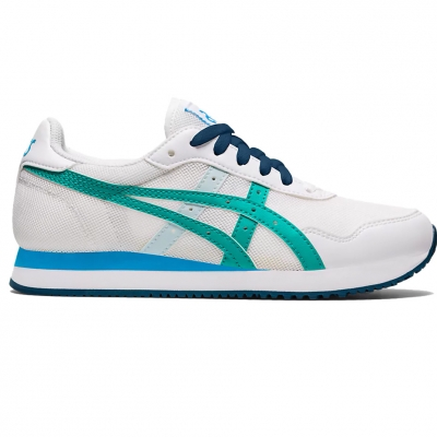 Pantof for Asics Tiger Runner Gs white and blue 1204A015 100 copil