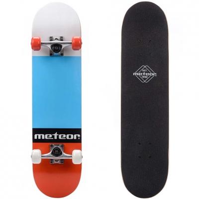 Skateboard Wooden Meteor Salty red-blue-black 22649