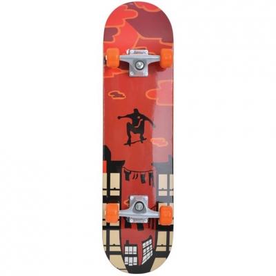 Skateboard Schildkrot Kicker Parkour brown-orange-black 510602