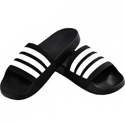 Papuc Casa Adidas Adilette Cloudfoam Plus Stripes black AP9971