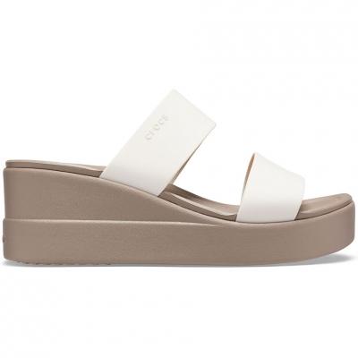 Papuc Casa Crocs 's Brooklyn Mid Wedge beige 206219 16T dama