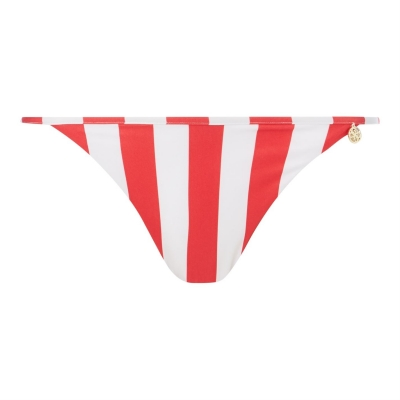 Guess Stripe Tie Side Bikini Bottoms