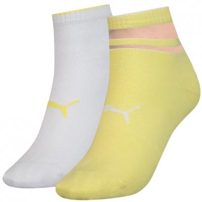 Soseta Puma Sneaker Structure 's 2 pairs white, yellow 907621 04 dama