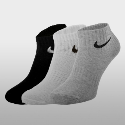 Sosete Nike U Nk Everyday Ltwt Ankle 3pr SX7677-901 Unisex adulti negru alb gri