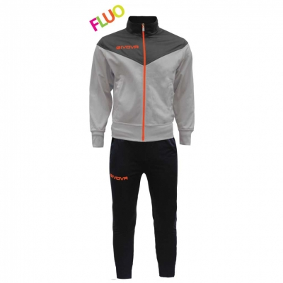 Trening sport TUTA VENEZIA FLUO Givova negru portocaliu fosforescent
