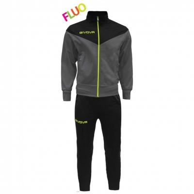 Trening sport TUTA VENEZIA FLUO Givova negru galben fosforescent