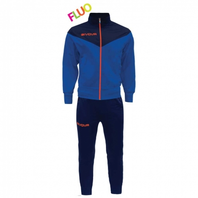 Trening sport TUTA VENEZIA FLUO Givova albastru portocaliu fosforescent