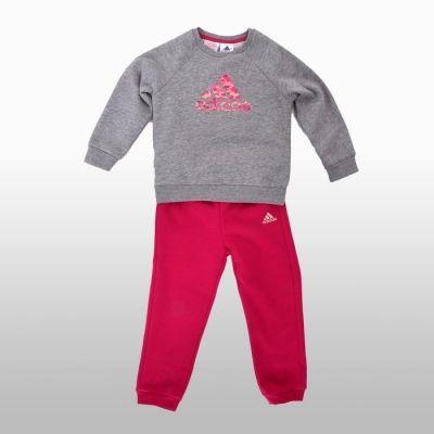 Trening adidas Sports Logo Jogger Fete gri roz