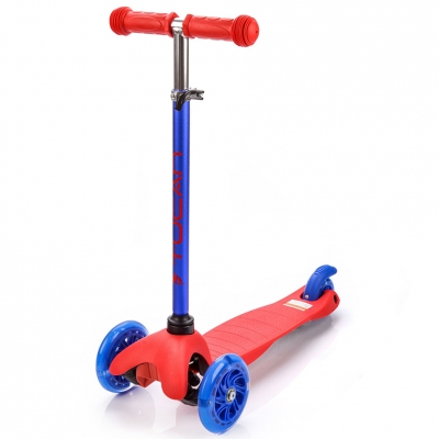 Tricycle scooter with Led Meteor Tucan wheels red-blue 22558