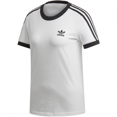 Tricou Adidas 3 Stripes white and black ED7483