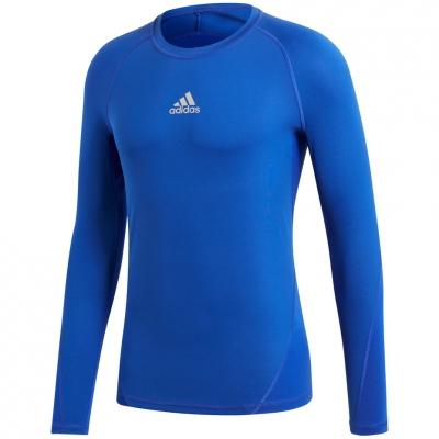 Tricou Camasa Men's t- adidas Alphaskin Sport LS blue CW9488 adidas teamwear