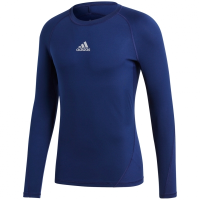 Tricou Camasa Men's t- adidas Alphaskin Sport LS dark blue CW9489 adidas teamwear