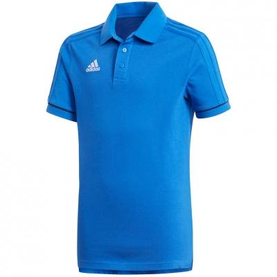 Camasa T- adidas TIRO 17 Cotton POLO JR blue BQ2693 adidas teamwear