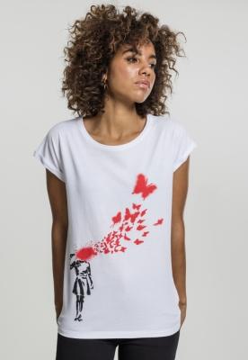 Tricou Banksy Butterfly dama Merchcode