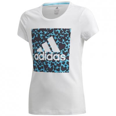 Tricou Camasa T- for adidas G ar Gfx white and blue GE0500 copil