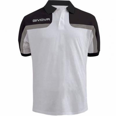 Givova Polo Spring, white and black