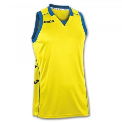 Camasa T- Cancha Ii Yellow-black Sleeveless Joma