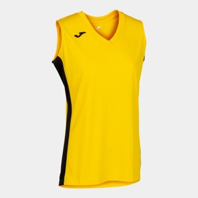 Camasa Cancha Iii T- Yellow-black Sleeveless Joma
