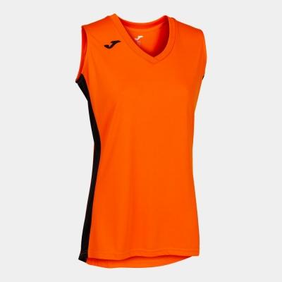 Camasa Cancha Iii T- Orange-black Sleeveless Joma