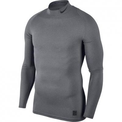 Camasa T- Nike Pro Cool Compression Mock LS gray 838079 091