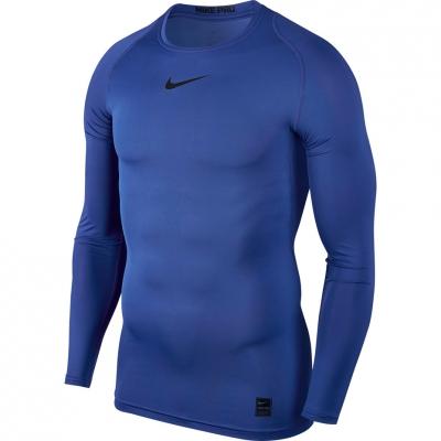 Camasa T- Nike Pro Top Compression LS blue 838077 480