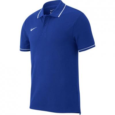 Camasa Men's T- Nike Polo Team Club 19 SS blue AJ1502 463