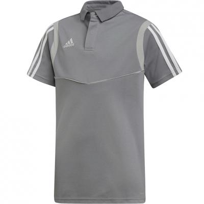 Camasa T- for adidas Tiro 19 Cotton Polo gray DW4737 copil copil adidas teamwear