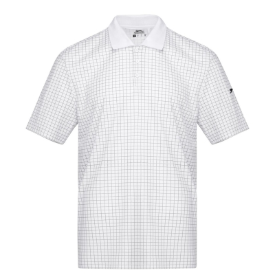 Slazenger Check Golf Polo barbat