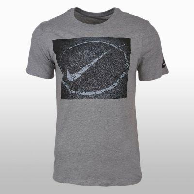 Tricouri sport bumbac Nike Asphalt Photo Barbati shades of gri and argintiu