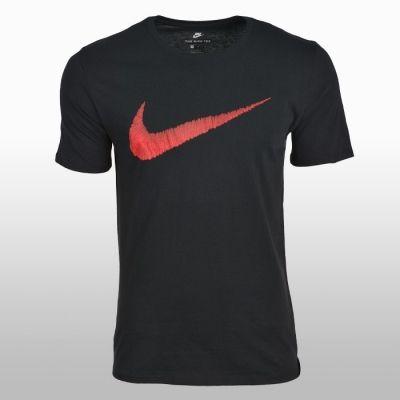 Tricouri sport Nike Tee-hangtag Swoosh Barbati negru