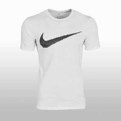 Tricou sport bumbac alb Nike Tee Hangtag Swoosh Barbati