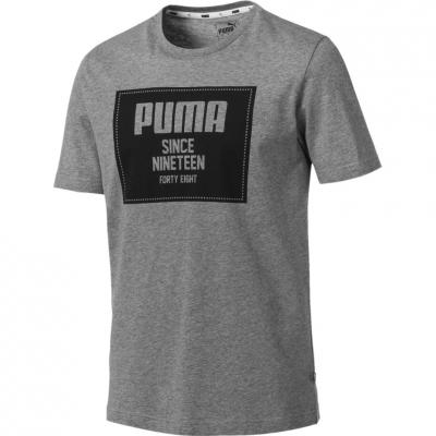 Tricou Camasa Puma Rebel Block Basic gray 852395 03