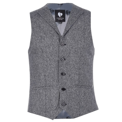 Twisted Tailor Button Waistcoat