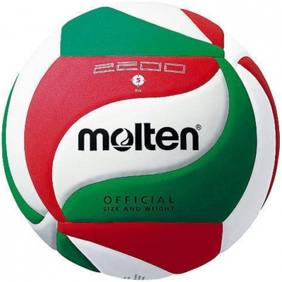 Volleyball Molten white-green-red V5M2200