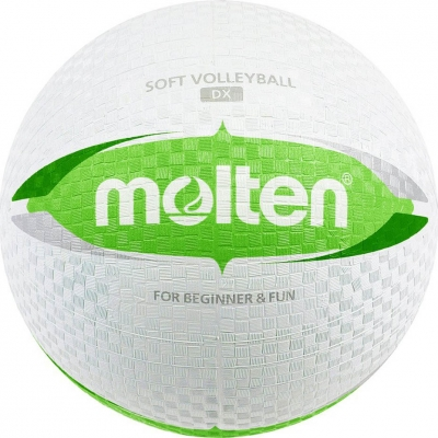 Volleyball green and white Molten rubber S2V1550-WG