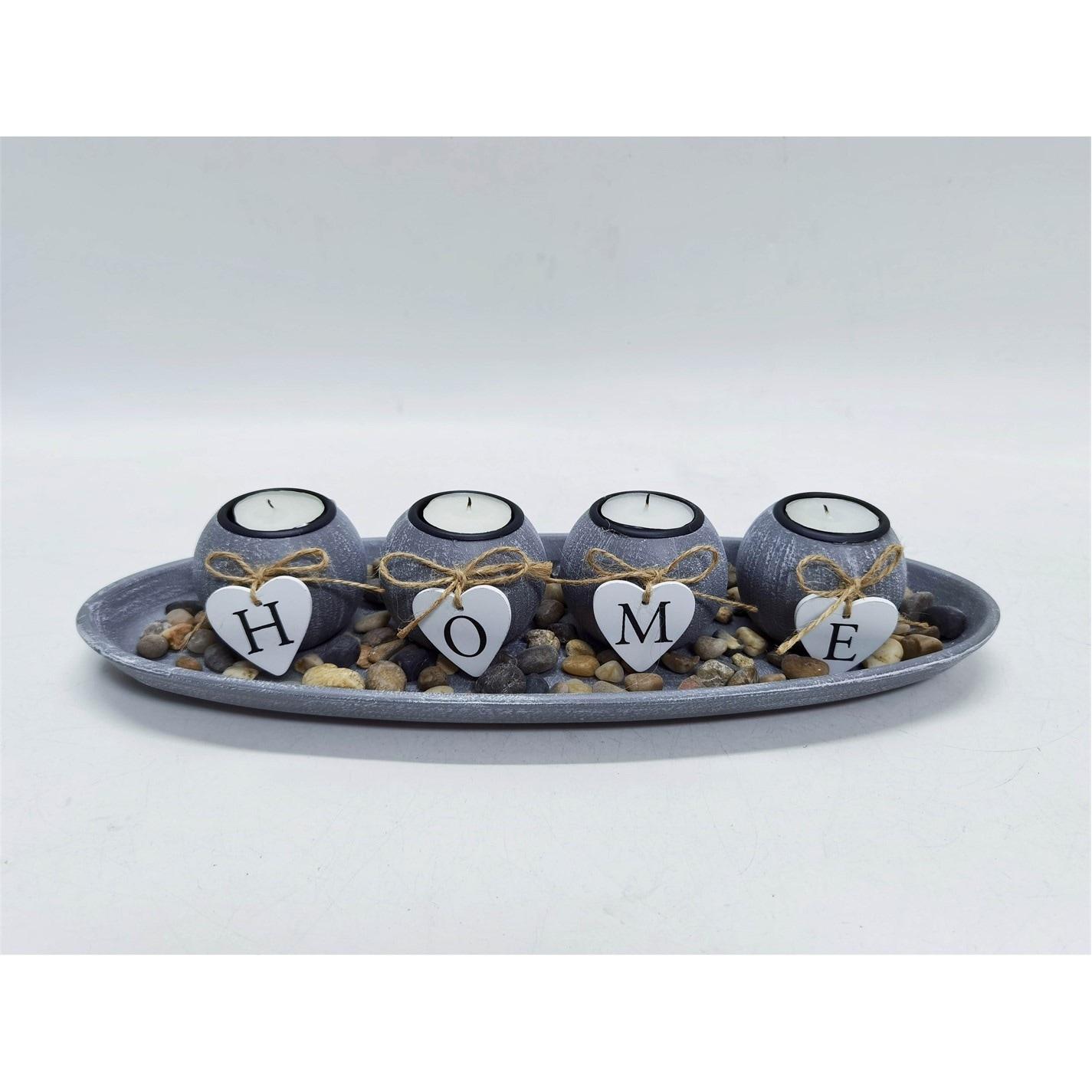 Grace Home Home 4 Piece Votive Candle Set