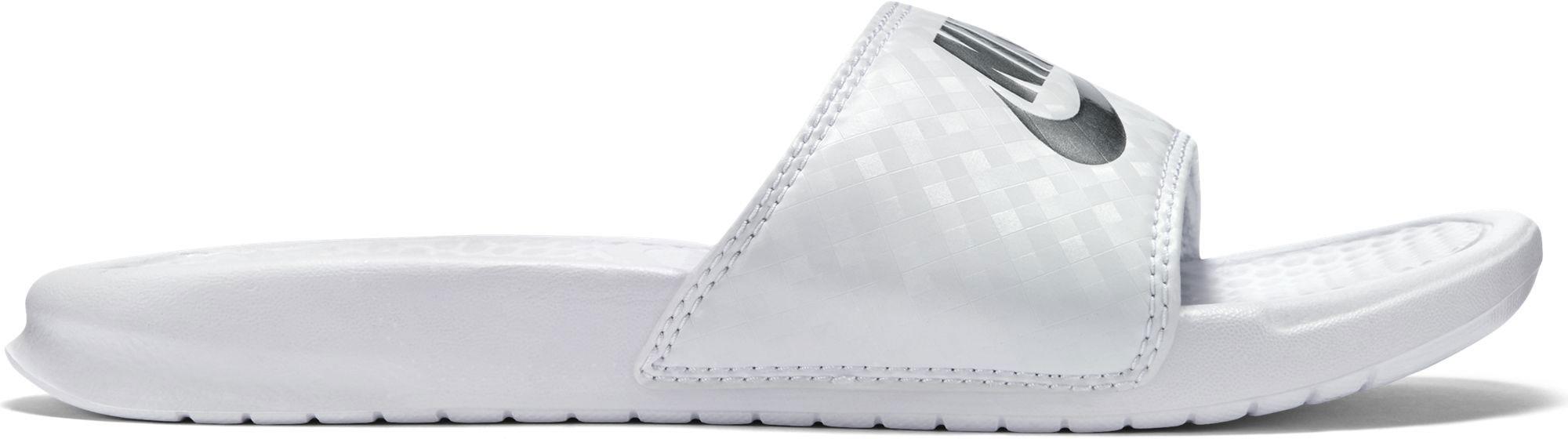 Papuci albi Nike Benassi Jdi 343881-102 Femei