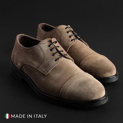Pantofi siret Duca Di Morrone 900D_CAMOSCIO Maro
